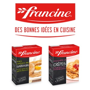 Bon et coupon de réduction Préparations Ma pâte à Crêpes et Mes Crêpes au Sarrasin Francine FRANCINE