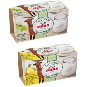 Bon et coupon de réduction Gamme Yaourts de Chèvre x2 RIANS