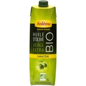 Bon et coupon de réduction Huile d'olive Bio Caractère Soléou en Tetra Prisma 1L Soléou