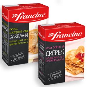 Préparations Ma pâte à Crêpes et Mes Crêpes au Sarrasin Francine FRANCINE