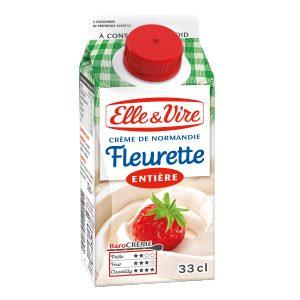 La crème fleurette entière de Normandie Elle & Vire ELLE&VIRE
