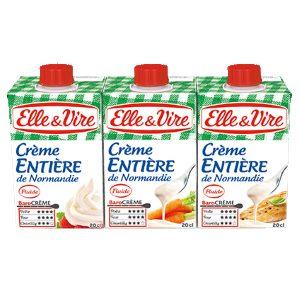 Crème liquide entière de Normandie Elle & Vire ELLE&VIRE