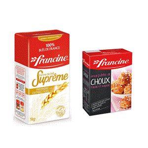 Bon et coupon de réduction Farine suprême et préparation pour pâte à choux Francine FRANCINE