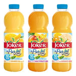 Joker le Pur Jus 30% moins sucré !  Granini