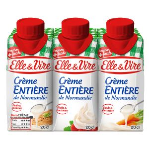 Bon et coupon de réduction Crème liquide entière de Normandie Elle & Vire ELLE&VIRE