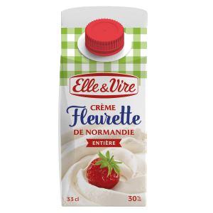 Bon et coupon de réduction La crème fleurette entière de Normandie Elle & Vire ELLE&VIRE