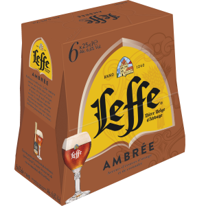 Pack Leffe Ambrée 6x25cl ABBAYE LEFFE