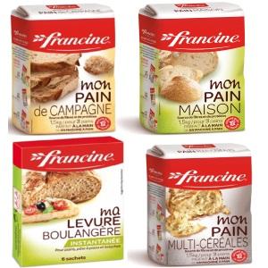 Bon de réduction valable sur l'achat de 2 produits : Mon pain maison ou Mon pain multi-céréales ou Mon pain de campagne et Ma levure boulangère FRANCINE