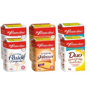 Farine tous usages Francine x2 (en sachet 1kg) FRANCINE