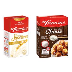 Farine suprême et préparation pour pâte à choux Francine FRANCINE