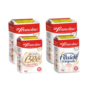 Farine Francine x2 (en sachet 1kg) FRANCINE