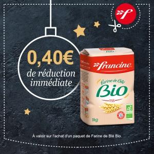 Bon et coupon de réduction Farine de Blé Bio Francine  FRANCINE